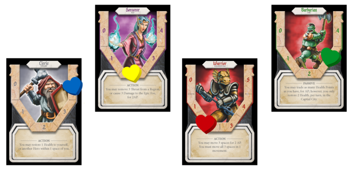 TED Hero Cards from the KS campaign page.
