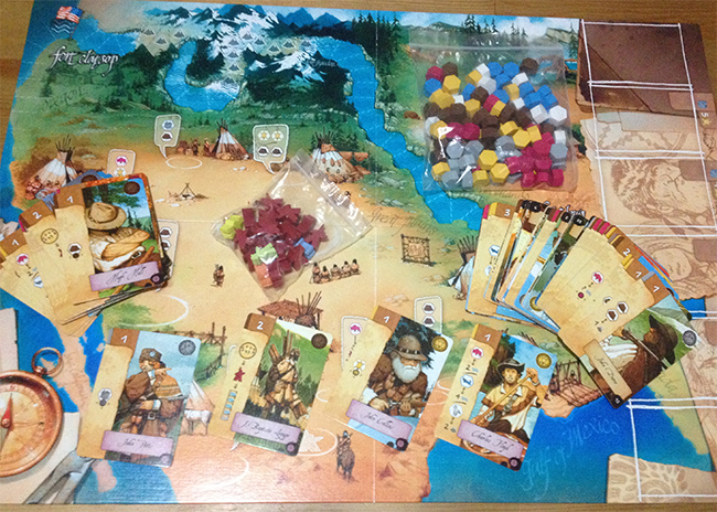 cog gaming board game review- Lewis & Clark Board