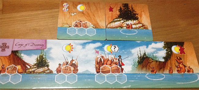 cog gaming board game review- lewis & clark Boats