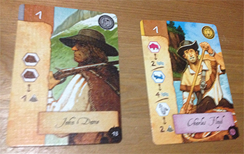 cog gaming board game review- Lewis & Clark Card Examples