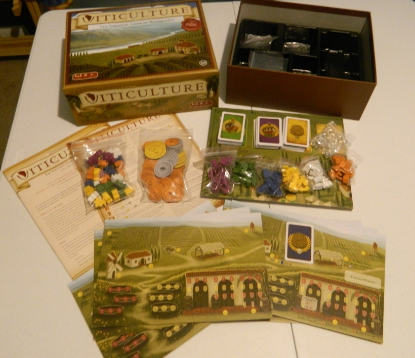 cog gaming board game review - Viticulture Components