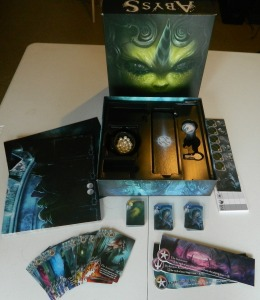 cog gaming board game review - Abyss Box Contents