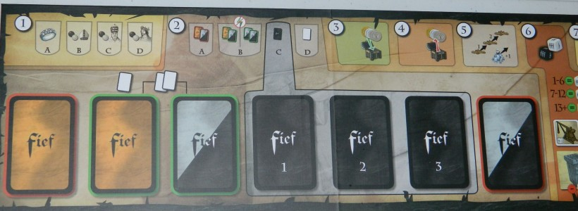 cog gaming board game review - Fief: France 1429 board detail