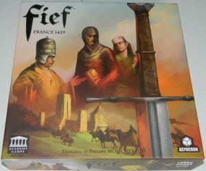 cog gaming board game review - Fief: France 1429 Box