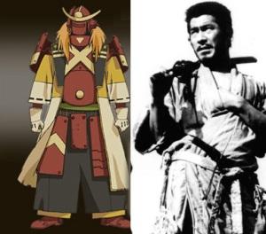 Kikuchiyo seven samurai vs samurai 7