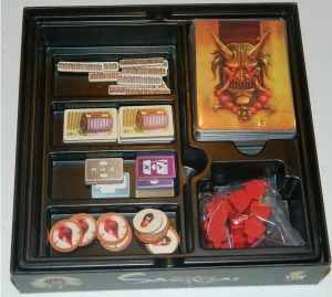 cog gaming board game review - samurai spirit insert