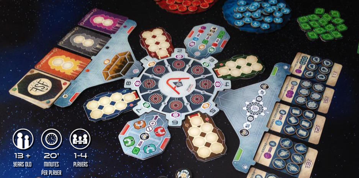 cog gaming board game review - far space foundry setup
