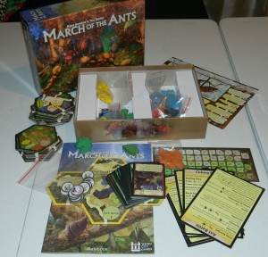 cog gaming board game review - march of the ants contents