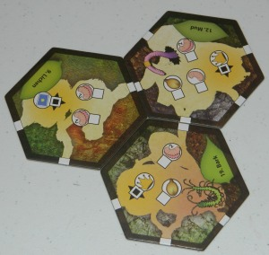 cog gaming board game review - march of the ants hexes