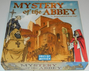cog gaming board game review - Mystery of the Abbey box