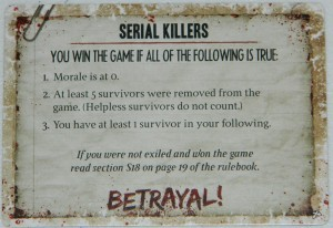 COG Gaming - Dead of Winter betrayal secret objective card