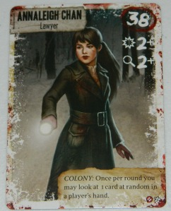 COG Gaming - Dead of Winter Annaleigh Chan card