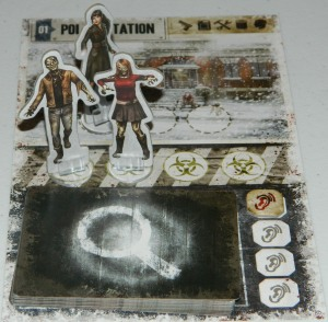 COG Gaming - Dead of Winter board game review showing Police Station location card, and making noise to search the deck.