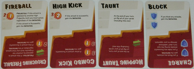 COG Gaming - Dragon Punch Kickstarter preview. Basic move cards