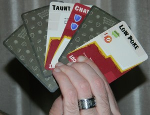 COG Gaming - Dragon Punch kickstarter fighting card game - how to hold your hand of cards.