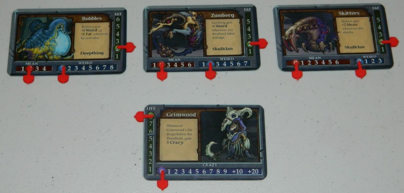 COG Gaming - Gruff mutant goats card game player setup