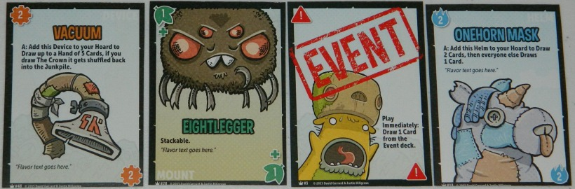 COG Gaming - JunKing junk cards for kickstarter preview.