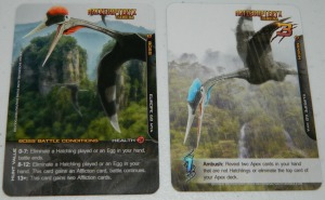 COG Gaming - Apex Theropod deck building game Boss card example for Hatzegopteryx