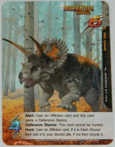 COG Gaming - Apex Theropod deck building game card art example of Triceratops
