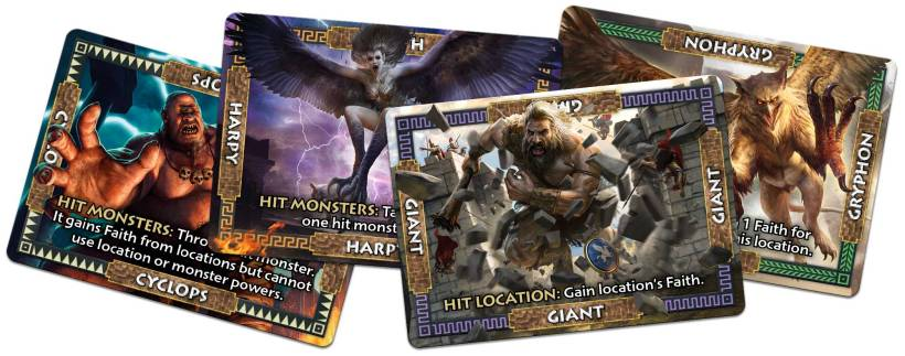 Monstrous game review monster card examples | COG Gaming
