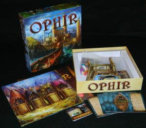 Ophir box contents for COG Gaming review