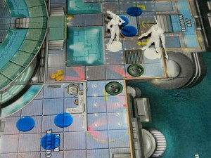Fathoms board game water tokens in use for COG review