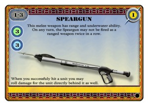 Fathoms speargun weapon card example for COG Gaming review