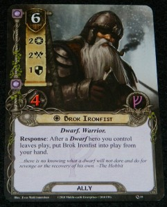 Brok Ironfist from The Lord of the Rings the Card Game | COG Gaming