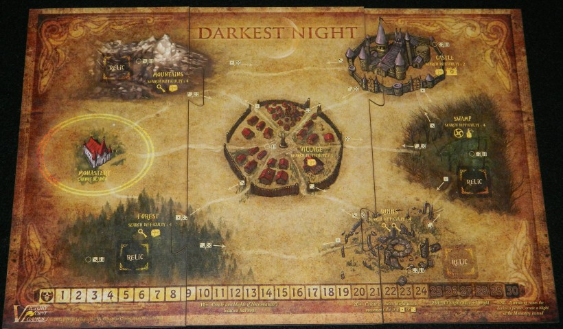 COG Gaming - puzzle board for Darkest Night game from Victory Point Games