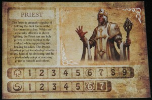 Darkest Night Priest character sheet for COG Gaming Review