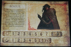 COG Gaming | Darkest Night Rogue class sheet for board game review