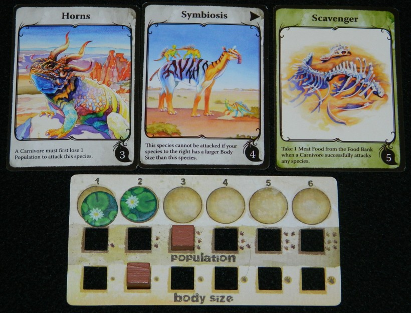 Evolution species example for COG Gaming board game review
