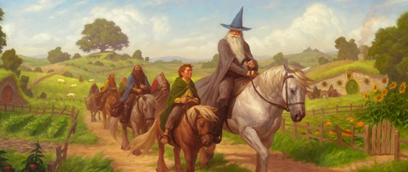 Lord of the Rings LCG The Hobbit: Over Hill and Under Hill expansion art | COG Gaming
