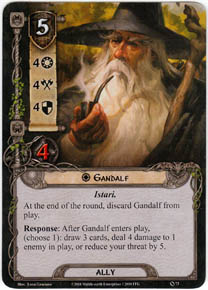 Fantasy Flight Games Lord of the Rings LCG - Gandalf card