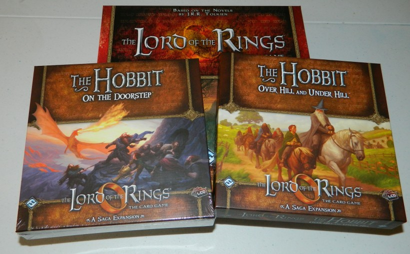 COG Gaming Lord of the Rings LCG base game, The Hobbit: On the Doorstep and The Hobbit: Over Hill and under Hill