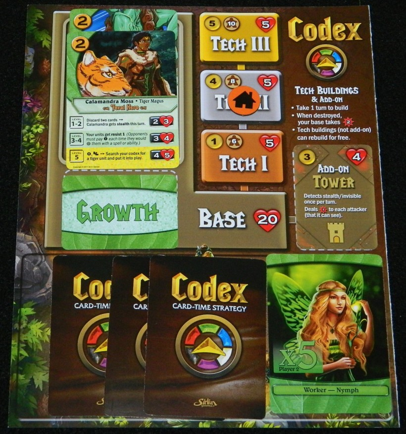 COG Gaming's loaded player sheet for Codex review
