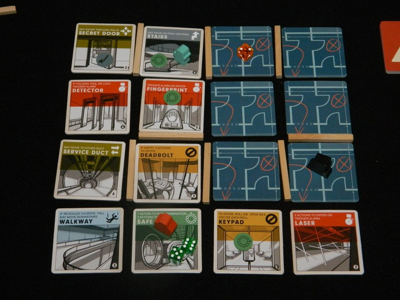 Burgle Bros. board game review - board and safe cracking example