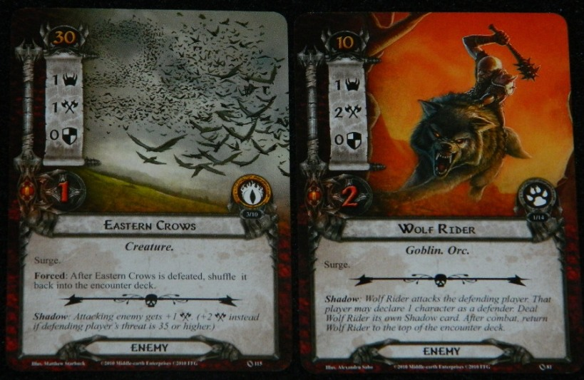 Eastern Crows and Wolf Rider draw for COG Gaming's blog series about the Lord of the Rings: The Card Game from Fantasy Flight Games