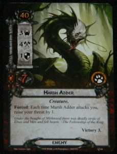 The Lord of the Rings: The Card Game Marsh Adder card