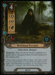 Northern Tracker card for COG Gaming blog series on the LOTR LCG