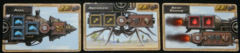 Steampunk Rally gold border cards