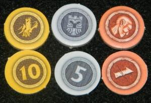 Vault Wars cardboard coins