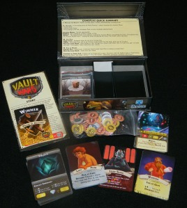 Vault Wars box contents for COG Gaming card game review