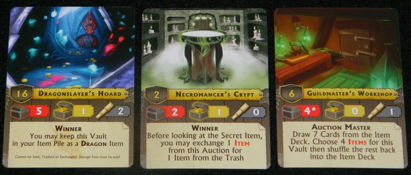 Vault cards for Vault Wars COG Gaming Review