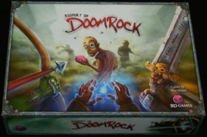 Assault on Doomrock board game review- box art
