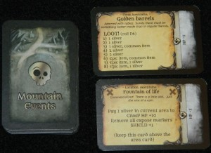 Peril card examples in Assault on Doomrock