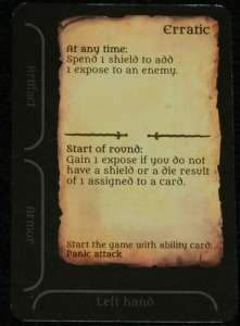 Erratic trait card from Assault on Doomrock