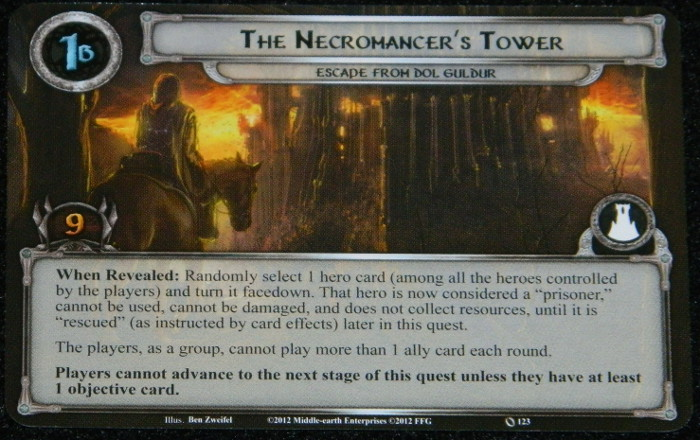 Necromancer's Tower card of Escape from Dol Guldur for LOTR LCG