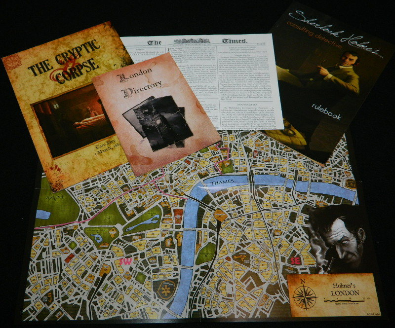 Sherlock Holmes Consulting Detective case prep for COG Gaming board game review