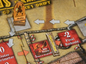 Zulus on the Ramparts board game barricade example